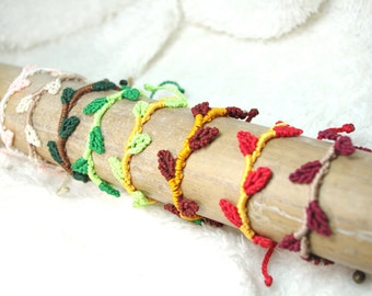 Bracelet macrame sheet nylon, various colors