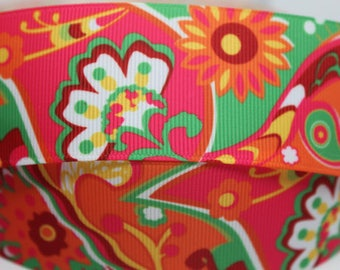 "Retro-Look Flower Design  1.5"" Collar with Side Release Buckle (Martingale Option Available)"