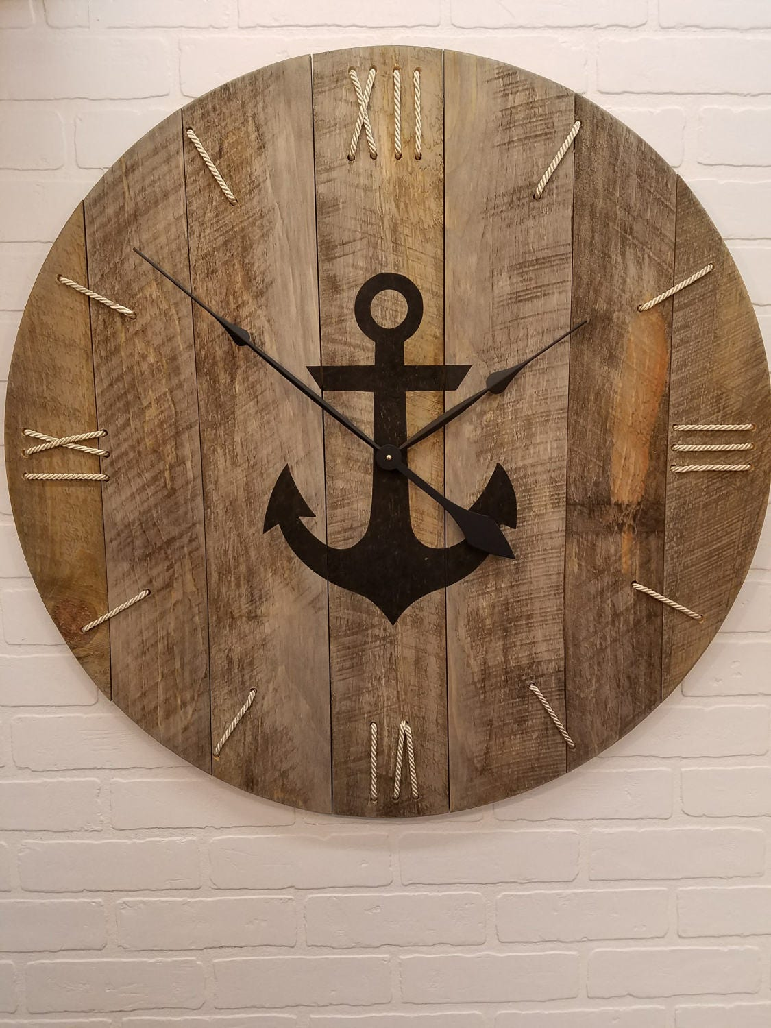 Wall Clock 30 Nautical Clock With Rope Numbers And