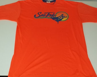Vintage Neon Royal Caribbean SeaTrek Graphic  tshirt size XL