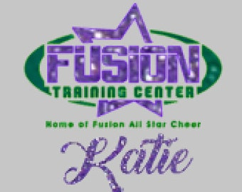 """Fusion Training Center 6"""" Glitter Decal with or without name"""
