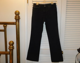 Vintage CK Highwaist Black Goth Flare Jeans Tag Says 11 Waist Measured 31 Inches