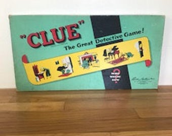 Vintage 1950's game of Clue