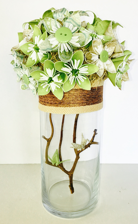 Origami Centerpiece Wedding Centerpiece Paper Flowers Origami