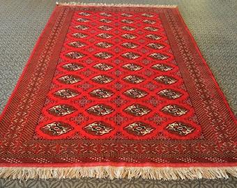 BOKHARA Rug   RED Carpet   Handmade Rug   Ethnic Area Rug   Antique Rug