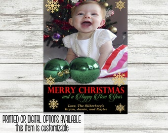 Christmas Greeting Card with Photo