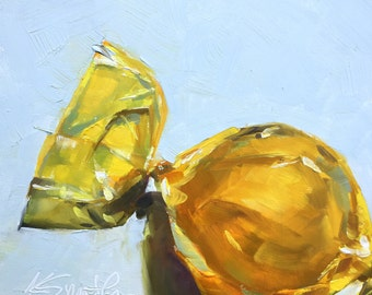 butterscotch // original oil painting // candy art // candy painting // home decor // butterscotch candy // childhood treat