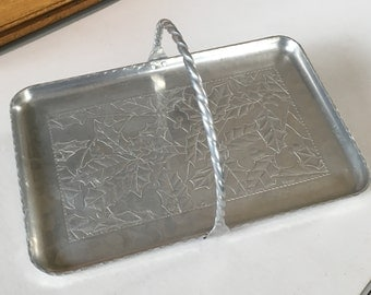 Vintage Hand Hammered Clayton Sheasly Aluminum Tray