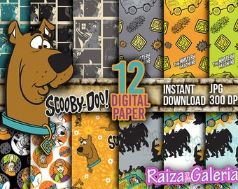 AWESOME Scooby Doo Digital Paper. Instant Download - Scrapbooking - Scooby Doo Printable Paper Craft!
