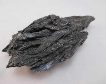 Black Kyanite Fan - Brazil Tranquility, Chakra Balancing, Clearing, Manifestation, Stress Relief, Metaphysical, Aura, Healing - Crystal Cave