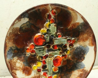 west german pottery plate by Ruscha