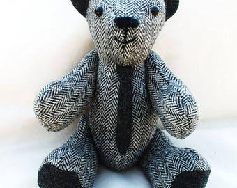 Harris Tweed Luxury Collectable Teddy Bear . 'JOE'