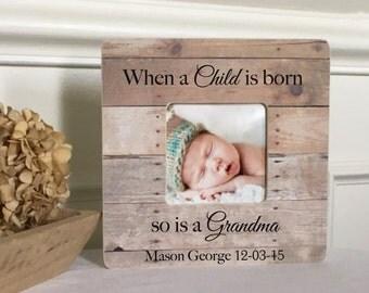 New Grandma New Grandparent's Gift Grandmother Grandfather Grandchild  Personalized Custom Picture Frame  Gift