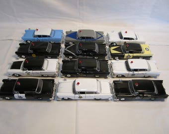 Lot Of 12 Metal Toy Collectible State Police Cars Ford