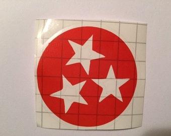 Orange TN Tristar Vinyl Decal