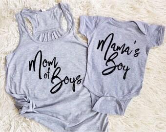 boy mom shirt mom of boys shirt mamas boy shirt mamas boy onesie matching family shirts matching mom and son shirts family set
