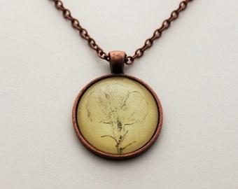 Hand drawn flower necklace