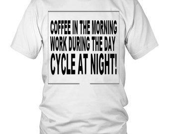 Coffee in the morning work during the day run at night Shirt,  Runner coffee cup, Running Mug, Humor Gift for runners, Jogging Joggers Gift