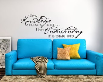 Upon Knowledge Vinyl Wall Decal Quote Scripture