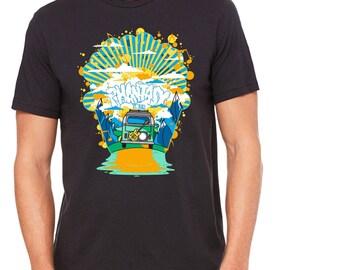 Music Shirt, VW Bus Shirt, Gift for Musician, Graphic Shirt, Illustrated Shirt, LGBT gift, Phish Shirt, Funny T-Shirt, Phantasy Tour