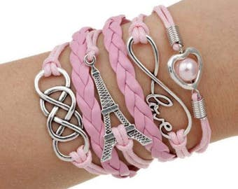 Pink Paris Multistrand Bracelet