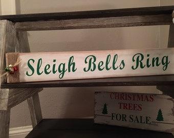 Christmas Signs,Christmas Decoration,Wood Christmas Signs,Christmas Decor,Rustic Christmas,Xmas Sign,Sleigh Bells Sign,Xmas Decor