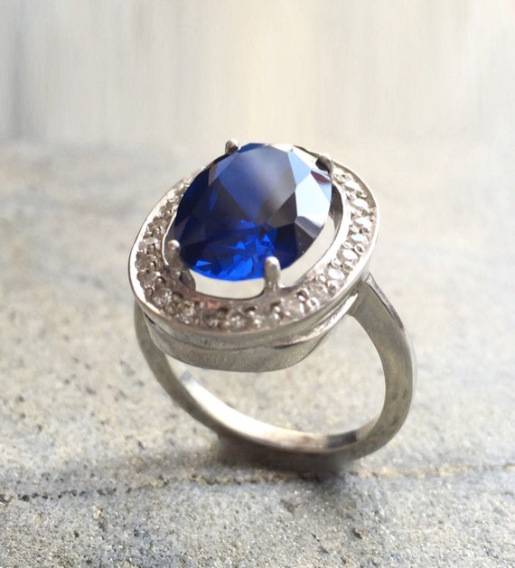 sapphire ring antique ring princess diana ring vintage