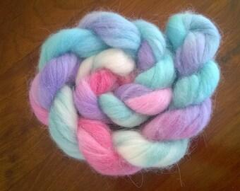 Australian Wool & Alpaca/Fleece/Top/Roving/Sliver~ Pastel Playtime ~100g