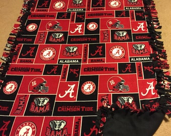 Alabama Roll Tide Hand Tied Fleece Blanket