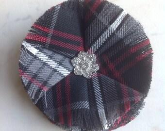 Auld Lang Syne Tartan Diamante Scottish Brooch