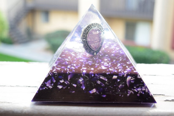 15% Off Today Only! Large Purple Orgone Pyramid