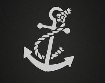 Anchor Vinyl Decal Etsy - Anchor custom vinyl decals for car