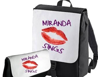 Miranda Sings Lips Double Pack Pencil case / Backpack  Bagbase