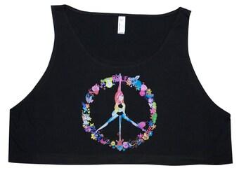 Pole Dance Loose Crop Tank Top || Peace, Pole, Love