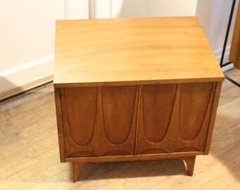 Brasilia two door commode in walnut by Broyhill