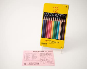 Tombow colored pencils, 12 color tin, Japanese packaging