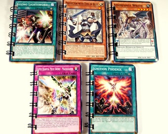 20 Upcycled Yu Gi Oh Cards - Yu Gi Oh Party Favors - Yu Gi Oh Favors - Yu Gi Oh Birthday Party - Recycled Yu Gi Oh Cards - Kozmo