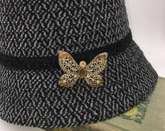 Beautiful Butterfly Rhinestone Brooch
