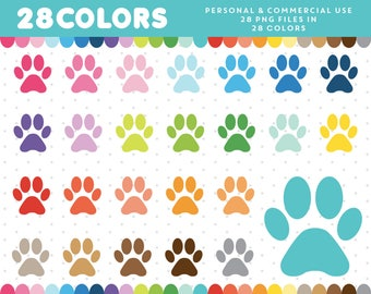 Dog Paw clipart, Paw Print clip art, Dog Paw icon, Paws graphics, Pet Paw Icon, Planner Clipart Supplies, CL-321