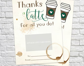 Coffee thank you etsy Thanks for all you do gifts