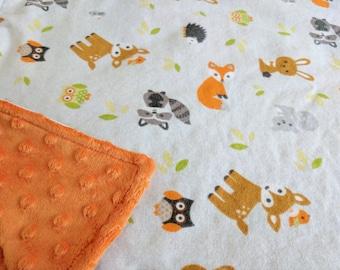 Woodland Baby Blanket, Woodland Creatures Baby Shower, Woodland Animal Nursery, Woodland Creatures Nursery, Woodland Animal Baby Shower
