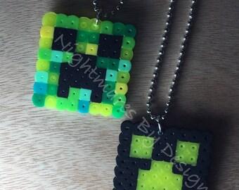 Minecraft Creeper Necklace set