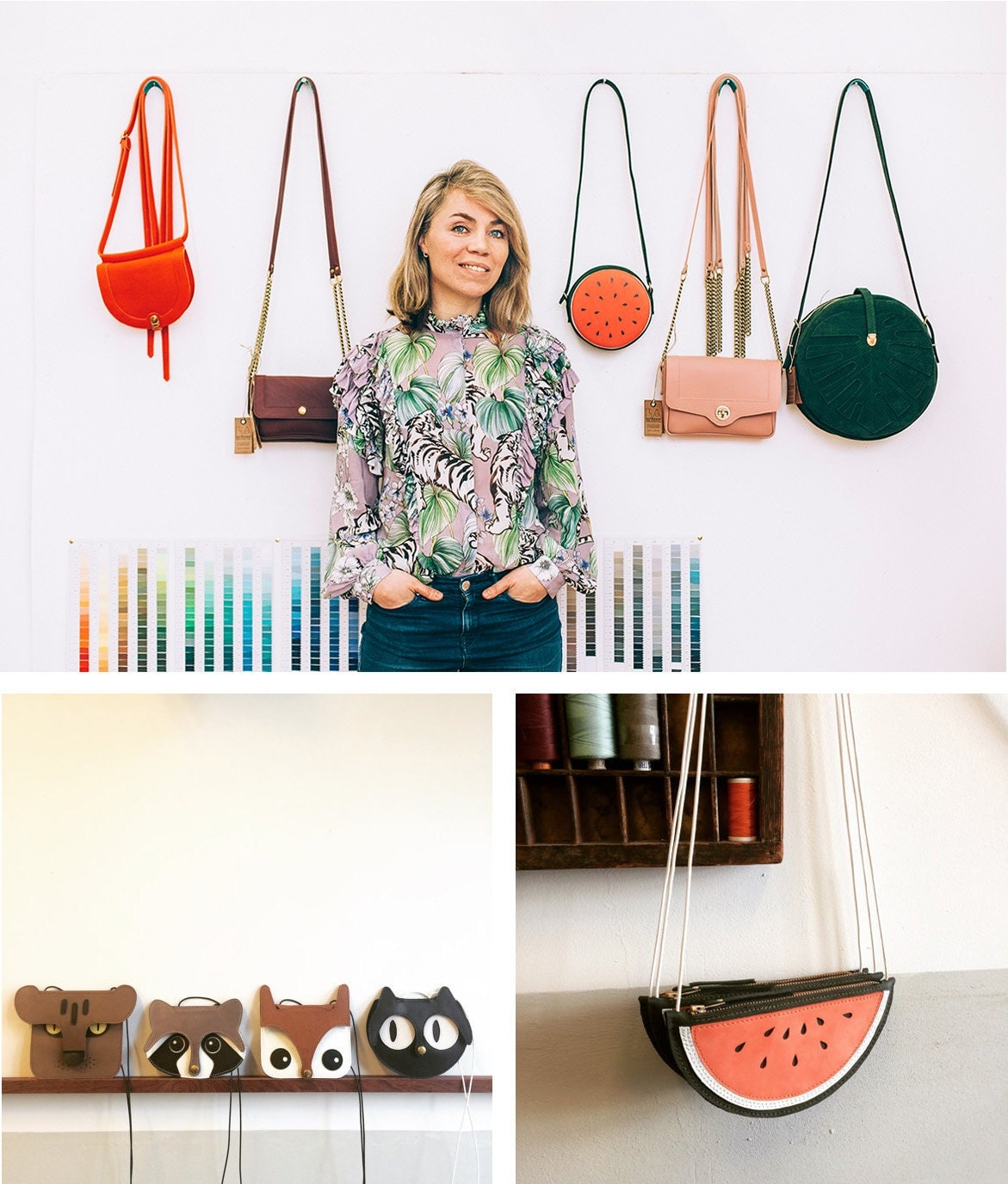 Lisette's animal and fruit bags