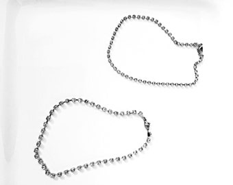 Crystal Silver Chain Choker Necklace