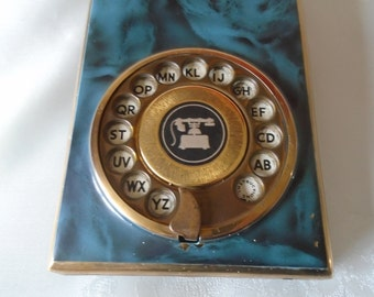 enamel and brass telephone index