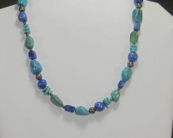 F-38 Vintage Necklace turquoises choker