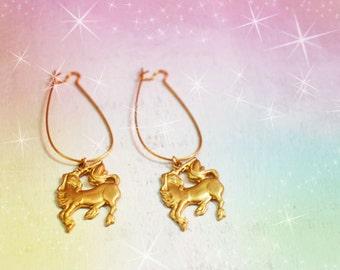 Magical Unicorn Charm Earrings