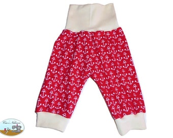 Baby bloomers red white nude anchor marine 50-56