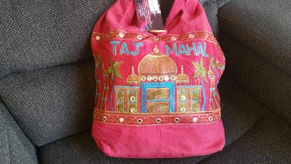 Embroidery purse, Boho Shoulder Bags, Short Handle Bags, Boho Shoulder Bag, Short Handle Bag, Embroidered Bags, christmas gift, Pink Bag