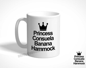 friends inspired coffee mug princess consuela banana hammock mug phoebe buffay inspired coffee mug wood sign princess consuela banana hammock friends tv show  rh   etsy